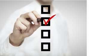 hand drawing checkbox, business  concept